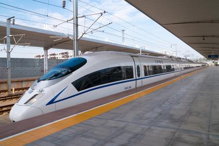 Photo pour High-speed trains, China - image libre de droit