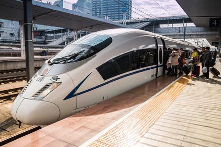 Photo pour High-speed trains in Guangzhou - image libre de droit