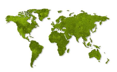 Foto de ecology world map, grass design - Imagen libre de derechos