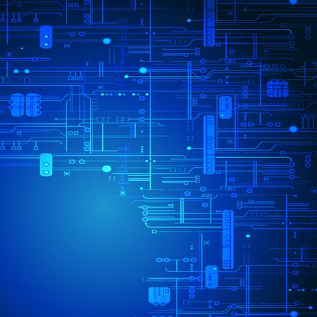 Illustration pour Abstract blue technology background - image libre de droit
