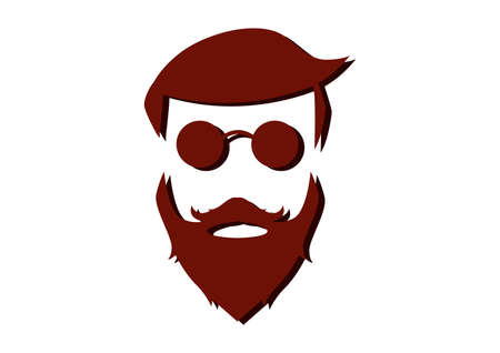 Illustrazione per Hipster Detailed Hair Beards - Immagini Royalty Free