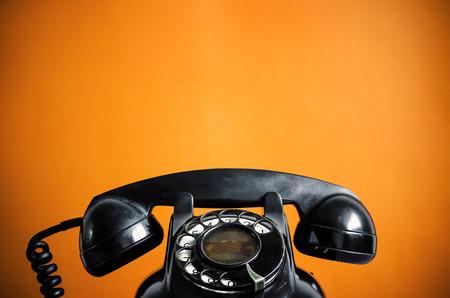Photo pour Old telephone  - image libre de droit