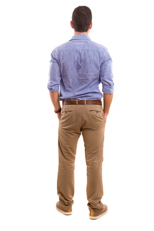 Photo for Young man with back turned to camera - Royalty Free Image