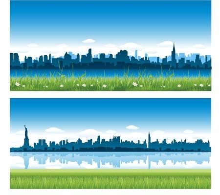 Illustration pour new york city background - image libre de droit