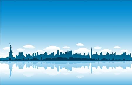 Illustration pour new york city skyline - image libre de droit