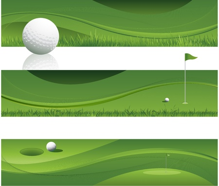 green abstract golf background design