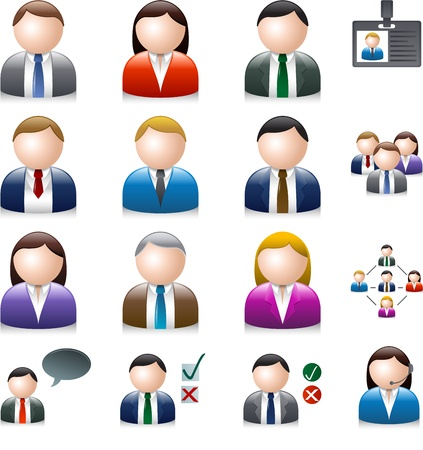 Illustration for Business people avatar isolated on white - Royalty Free Image