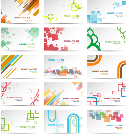 Illustration pour Modern Business Card Set  - image libre de droit