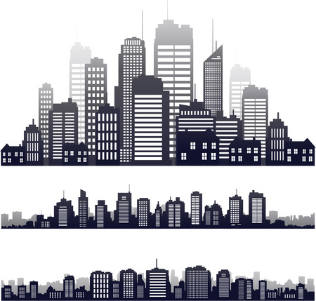 Photo for Vector city silhouette building skyline - Royalty Free Image