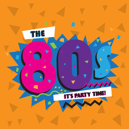 Photo for Party time The 80 s style label. Vector illustration. - Royalty Free Image