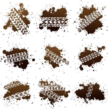 Ilustración de Vector tire track illustration EPS 10 - Imagen libre de derechos