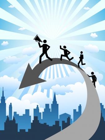Illustration pour the concept background of successful business - image libre de droit