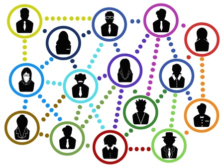 the background of business people communication network