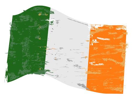 Ilustración de Ireland flag with grunge texture - Imagen libre de derechos