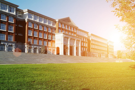 Photo pour Hall building in college - image libre de droit