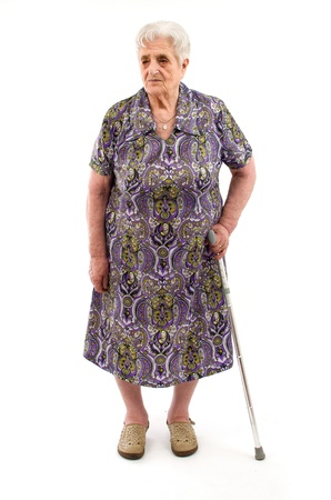 Foto de Old Woman on white background - Imagen libre de derechos