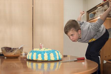 Foto de A little boy birthday - Imagen libre de derechos