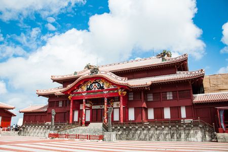 Photo for Shuri Castle under the clear blue sky, Okinawa, Japan - Royalty Free Image