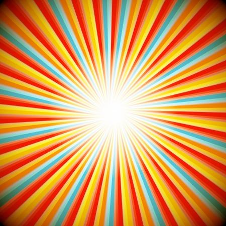 Ilustración de Abstract background of star burst - Imagen libre de derechos