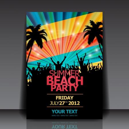 Retro Summer Beach Party Flyer