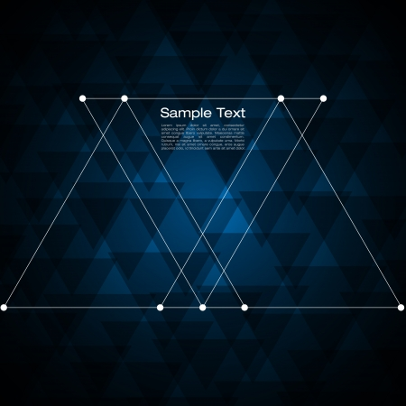 Illustration for Abstract triangle background for Your Text   - Royalty Free Image