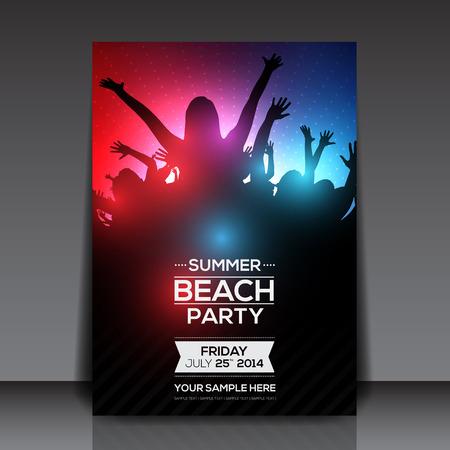Ilustración de Summer Beach Party Flyer - Imagen libre de derechos