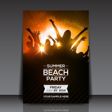 Illustration pour Summer Beach Party Flyer - Vector Design - image libre de droit