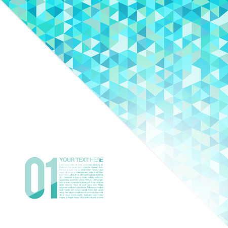Illustration for Blue Abstract Geometrical Background | Mosaic Vector Illustration | Modern Layout - Royalty Free Image