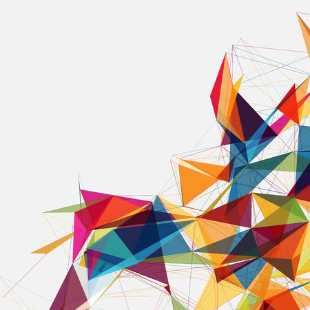 Illustration pour Abstract shapes background | EPS10 Futuristic Design - image libre de droit