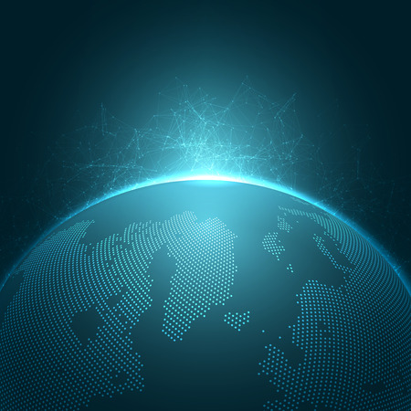 Illustration pour Modern Globe Vector Illustration | EPS10 Background - image libre de droit