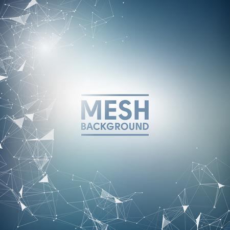 Illustration pour Blue Mesh Vector Background  Design - image libre de droit