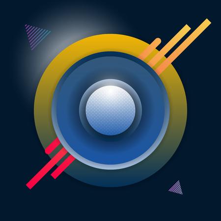 Illustration pour Abstract Artistic Decorative Shapes Vector Background - image libre de droit