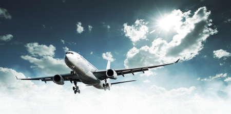Photo pour Airplane above the clouds - image libre de droit