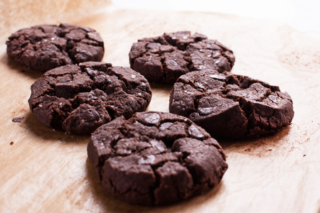Foto de Close up of chocolate cookies. Stock image. - Imagen libre de derechos