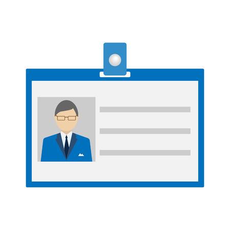 Ilustración de ID Card Icon  flat style. Vector illustration - Imagen libre de derechos