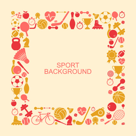 Sports background. Sports icon with space for text.