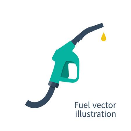 Illustration pour Fuel pump. Petrol station sign. Gas station sign. Gasoline pump nozzle. Fuel background. Vector illustration, flat design. Gasoline pump with drop. Fuel pump icon. - image libre de droit