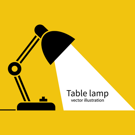 Illustrazione per Table office lamp Desktop electric Vector illustration flat design. - Immagini Royalty Free