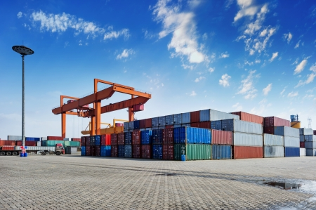Photo for Containers shipping - Royalty Free Image