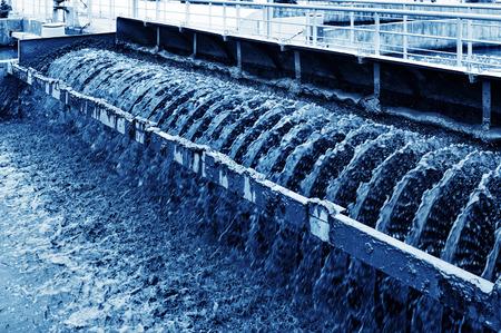 Foto de Modern urban wastewater treatment plant. - Imagen libre de derechos