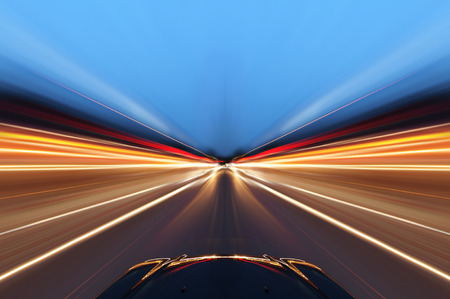 Photo for car on the road with motion blur background - Royalty Free Image