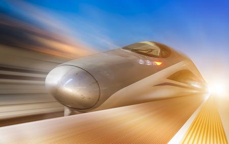 Photo pour high speed train with motion blur - image libre de droit