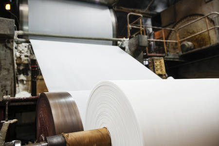 Photo for Paper mill Machine - Royalty Free Image