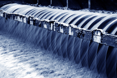 Photo pour Modern urban wastewater treatment plant. - image libre de droit