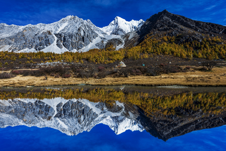 Photo for Yading national reserve in Daocheng County, in the southwest of Sichuan Province, China. - Royalty Free Image