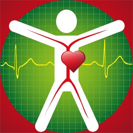 Foto de Medical Symbol -ECG Wave - Imagen libre de derechos