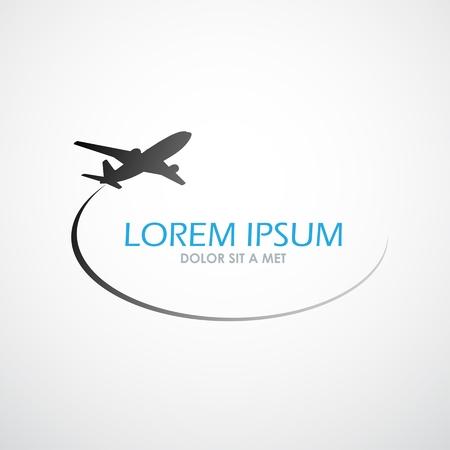 Illustration pour Airplane symbol vector design - image libre de droit