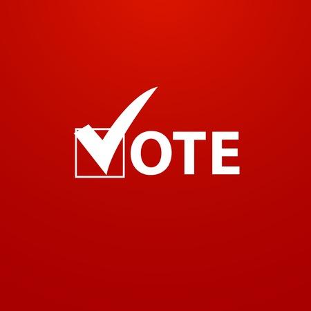 Illustration pour Voting Symbols vector design - image libre de droit
