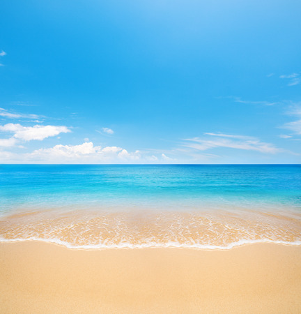 Foto per beach and tropical sea - Immagine Royalty Free