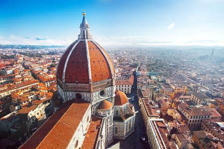 Foto de View of the Cathedral Santa Maria del Fiore in Florence, Italy - Imagen libre de derechos